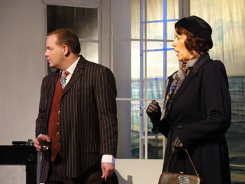 Blore (Paul Dodman) and Emily Brent (Chrissie Neal)
