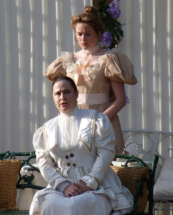 Lady Julia (Penny Pearson) and Sybil (Lauren Homer)