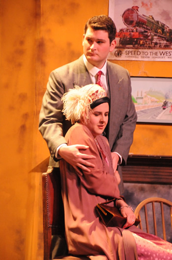 Jemma Cable as Peggy Murdock with Rob Cording-Cook as Charles Murdock