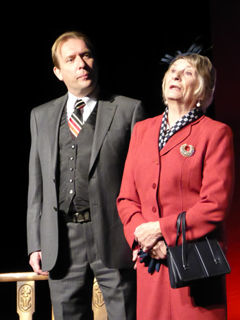 Tony Parkinson (Dr Wicksteed) and Val Mantle (Lady Rumpers)