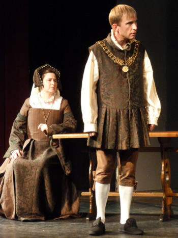 Sam Moulton as Sir Thomas More with Penny Pearson as Lady Alice More