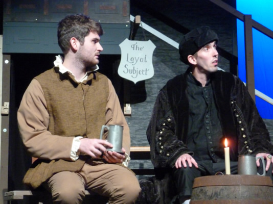 Rob Cording (Richard Rich) and John Sivewright (Thomas Cromwell)