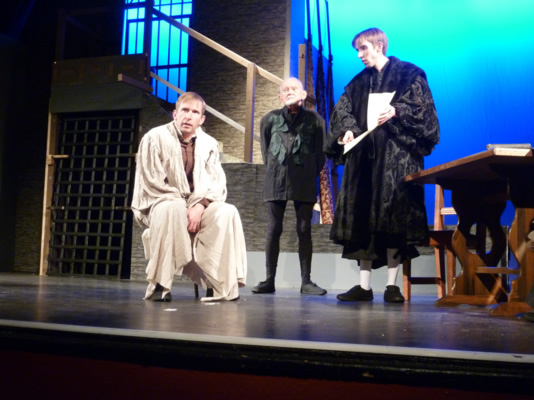 Sam Moulton (Sir Thomas More), Michael J Smith (The Common Man) and John Sivewright (Thomas Cromwell)