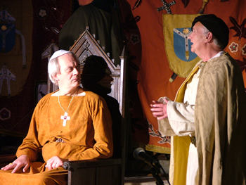 Temptor (David Pile) with Becket (Jeremy Austin)