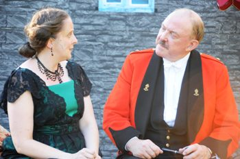 Beverley Beck (Beatrice) and Chris Durham (Don Pedro)