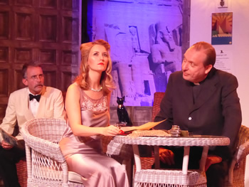 Sam Moulton (Dr Bessner), Kristy Dixon (Kay Mostyn) and Tony Parkinson (Canon Pennefather)