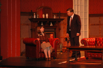 Mrs de Winter (Tracey Nicholls) and Jack Favell (Tony Feltham)
