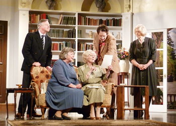Admiral Hayling (Anthony Wyld), Lady Hayling (Jan Stevenson), Felicity (Sheila Dove), Peter (Gary Paine) and Moxie (Caroline Burr)