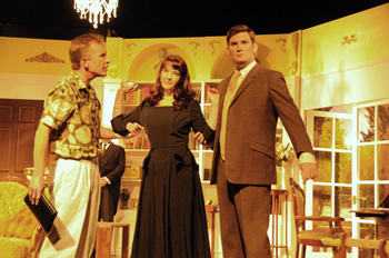 Don (Sam Moulton), Miranda (Tracey Nicholls) and Nigel (Rob Cording)