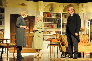 Moxie (Caroline Burr), Felicity (Sheila Dove) and Crestwell (Chris Durham)