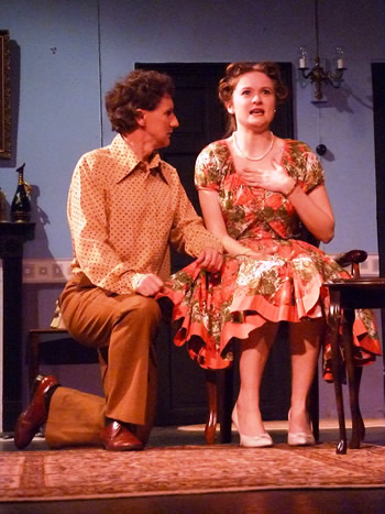 Jeremy (Colin Pile) and Clarissa (Lauren Homer)