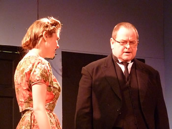 Clarissa (Lauren Homer) and Elgin (Steve Symonds)