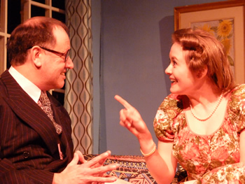 Henry (Alan Dester) and Clarissa (Lauren Homer)
