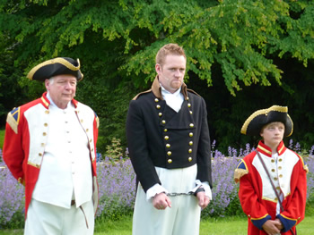 1st Officer (Barry Baynton), Antonio (Mark Everitt) and 2nd Officer (Eddie Tyson-Brown)