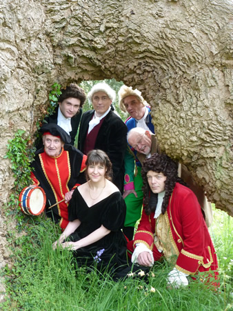 Some of the cast of Twelfth Night at Deans Court